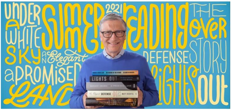 5 ideas para leer en verano por Bill Gates