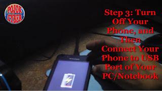 Sambungkan HP Ponsel Lenovo A319 yang Sudah Dimnatikan ke Komputer atau Laptop melalui Port USB