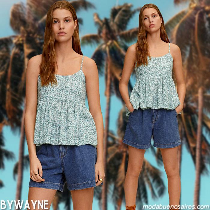 tops verano 2021 moda mujer
