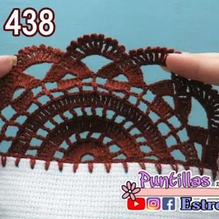 Puntilla para Mantel a Crochet