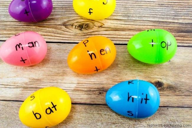plastic egg word blends game