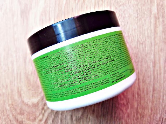 PERFECT.ME, Natural Oils Repair - Maska odbudowująca do włosów suchych, szorstkich i zniszczonych, opis opakowania