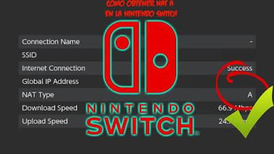 Como obtener puntuacion NAT A en online nintendo switch