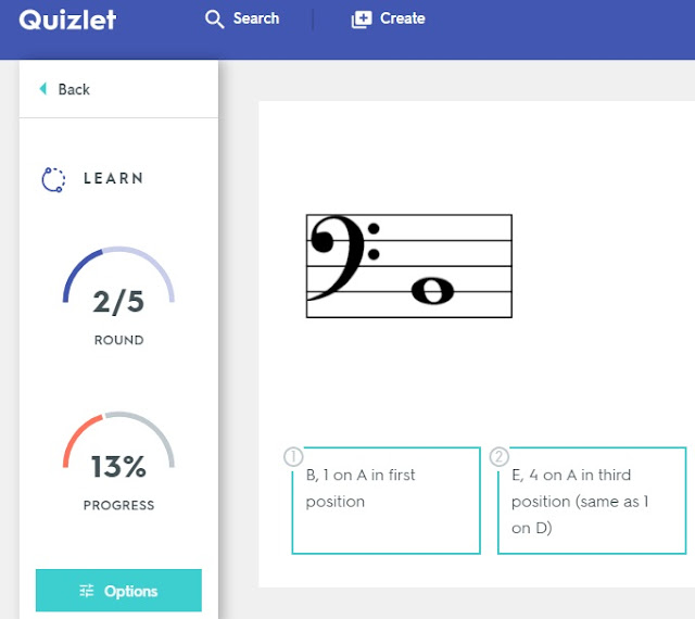 Quizlet flash cards for reading notes elementary orchestra learn