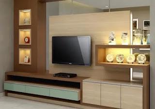 ديكورات خشب تلفزيون معلق