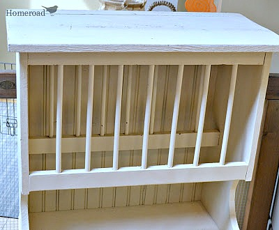 Creating a Farmhouse Style Dish Rack