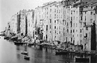 Historic photo of the Palazzata - Fortress Houses, Portovenere