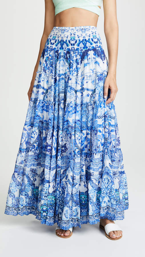 Camilla Sheer Tiered Maxi Skirt / Dress