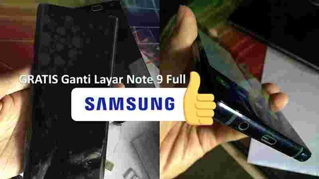 Cara Dapatkan Layar Baru GRATIS Galaxy Note 9 Samsung