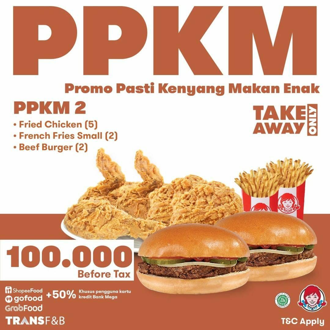 Wendy's Promo PPKM (Pasti Kenyang Makan Enak)
