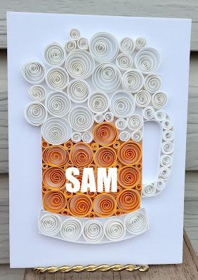 Paper Quilling Beer Mug Frame