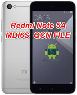 Redmi Note 5A MDI6S Qcn File For Imei Null Fix Download