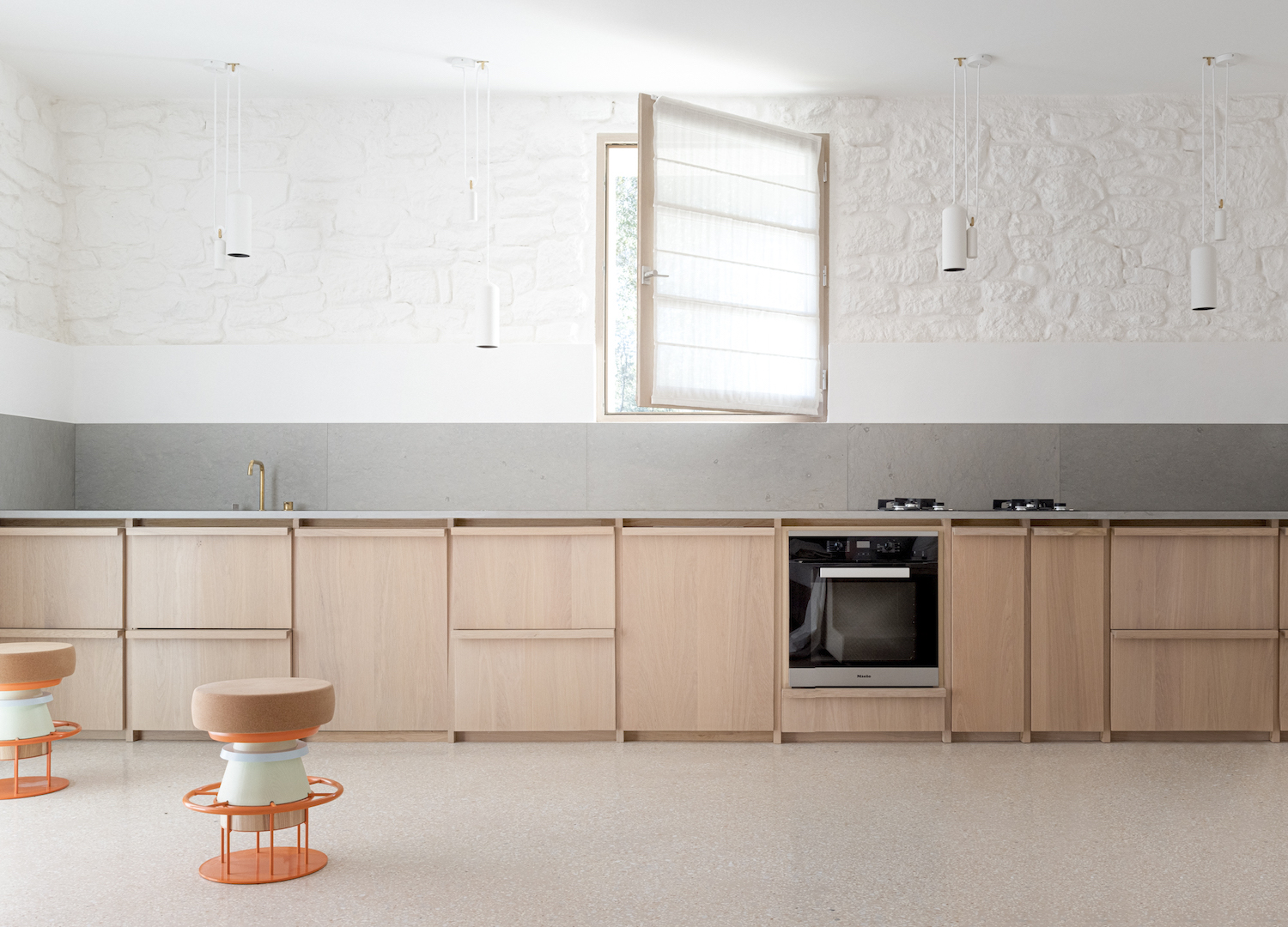 a minimal wooden kitchen