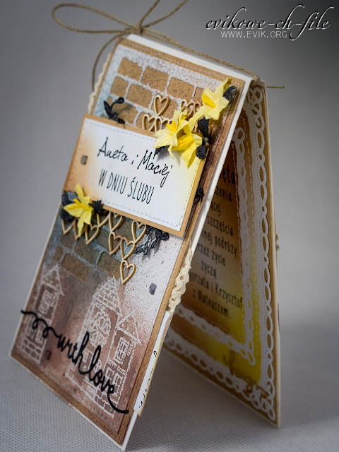 with love, Evik, Evikowe ch-file, Kartka na ślub, W dniu ślubu, wedding card, kartka ślubna