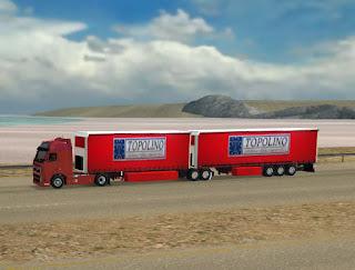 European double trailers combo by 3dartpol