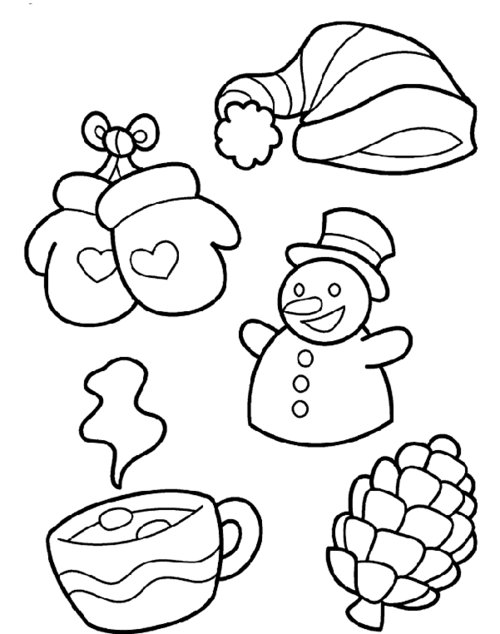 toddler winter coloring pages - photo#17