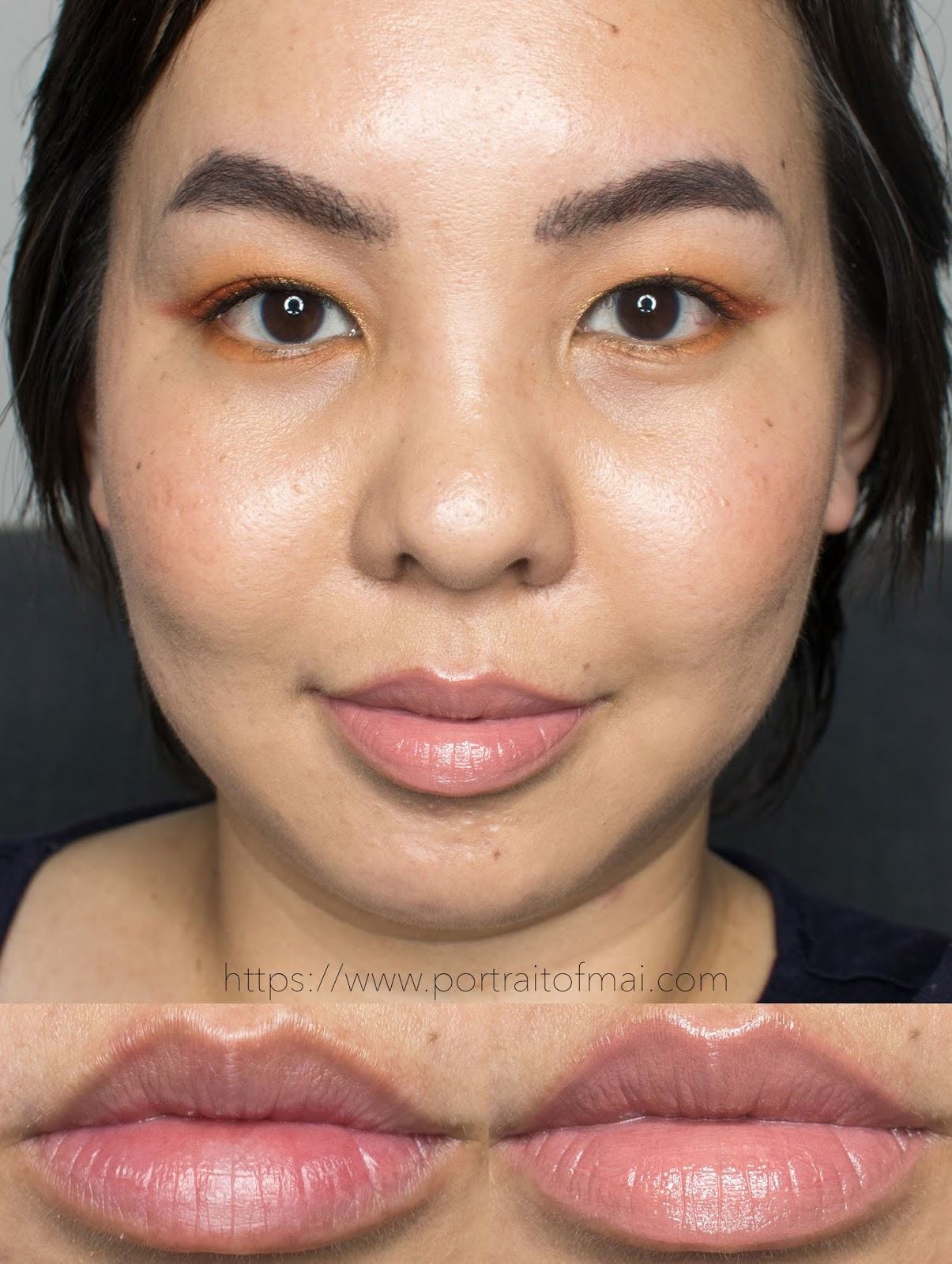 EM Cosmetics True Gloss in Secret Blush Swatch