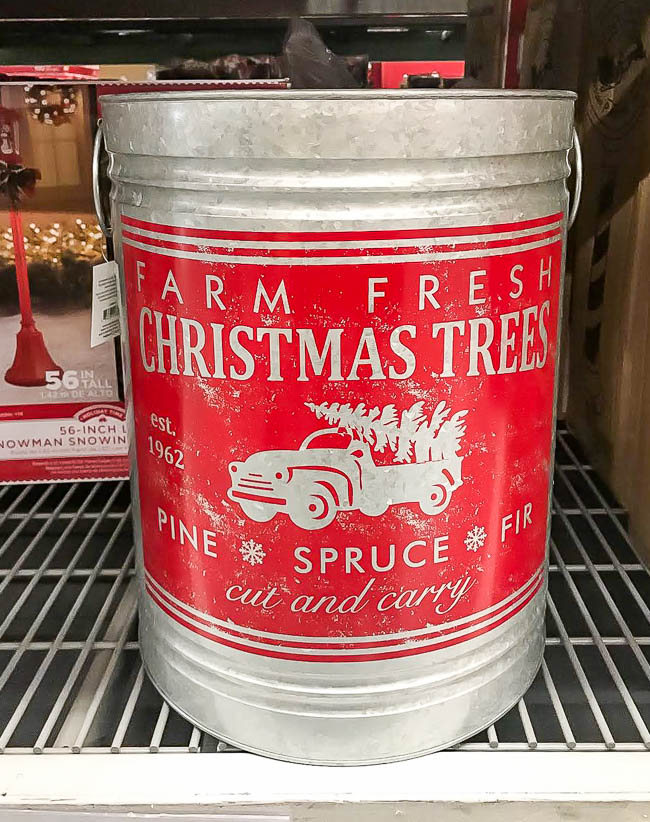 Galvanized Christmas tree farm tub from Walmart