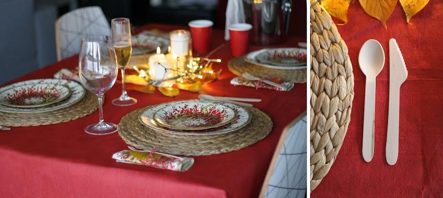 Mesa navideña de cartón con Elegance Party - Decorar en familia9