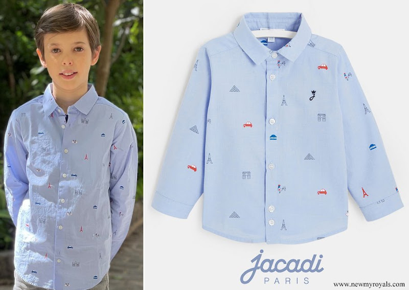 Prince Henrik wore Jacadi Parisian Monuments Shirt