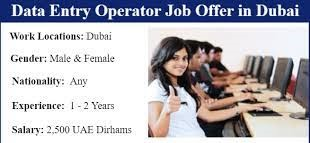 Data Entry Operator Jobs Recruitment in Dubai, UAE - 2021