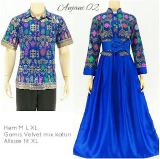 model baju batik sarimbit pasangan untuk pesta