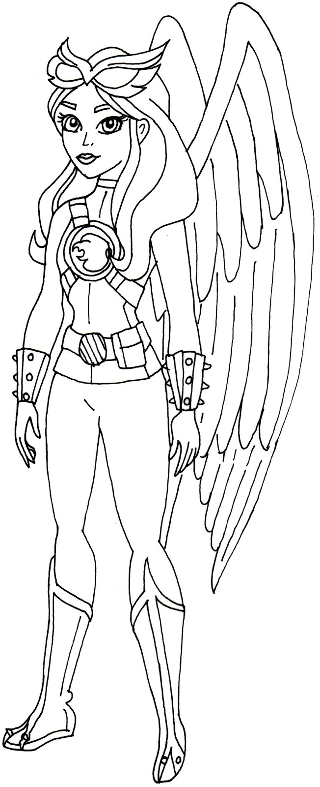 Hawk Girl Super Hero High Coloring Page
