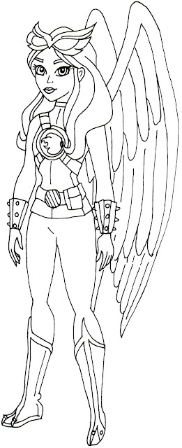 Free Printable Super Hero High Coloring Pages: Hawk Girl Super Hero ...