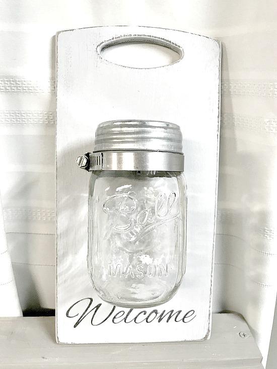 Easy DIY Mason Jar wall vase