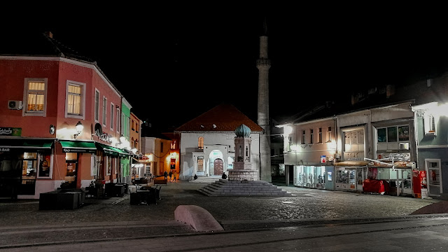 Trg Slobode at night