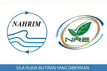 Jawatan Kosong Institut Penyelidikan Hidraulik Kebangsaan Malaysia (NAHRIM) | Tarikh Tutup: 09 Jun 2019