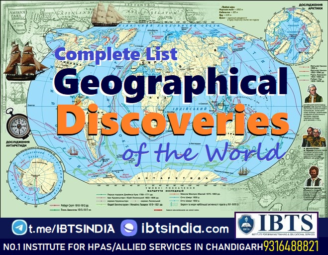 List of Geographical Discoveries of the World