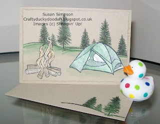 Stampin' Up! Made by Susan Simpson Independent Stampin' Up! Demonstrator, Craftyduckydoodah!, The Great Outdoors, Happy Scenes,
