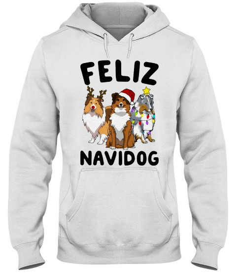 Feliz Navidog Shetland Sheepdogs Christmas Hoodie,Feliz Navidog Shetland Sheepdogs Christmas Sweatshirt t shirt