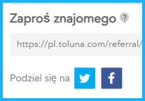 """Toluna, program """"Zaproś znajomego""""."""