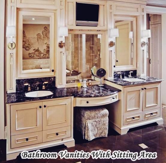 bathroom vanities with seating area - hometiens