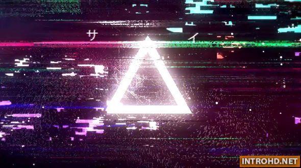 Cyberpunk Glitch Logo Opener
