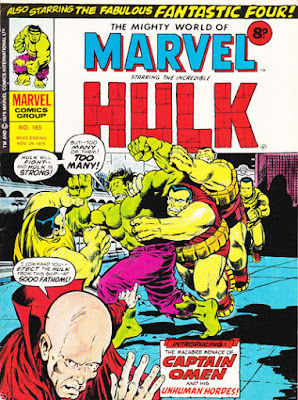 Mighty World of Marvel #165, Hulk vs Captain Omen