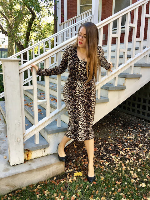 vixen by micheline pitt leopard wiggle dress