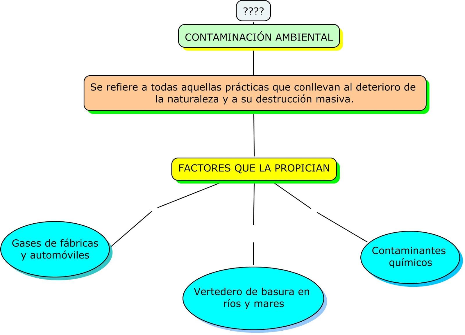 CONTAMINACIÓN AMBIENTAL: Mapa conceptual
