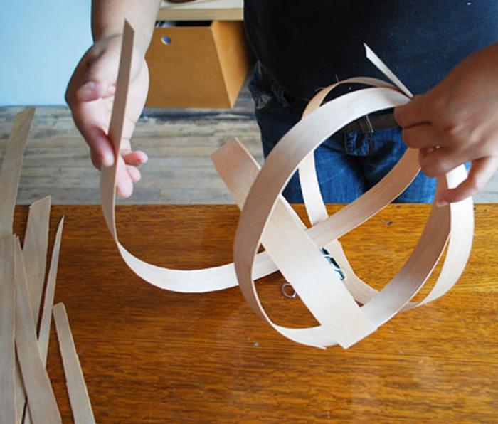 DIY Lampu Rumah Dari Anyaman Kayu - Step 3