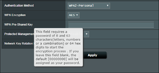 تغيير كلمة مرور Wi-Fi على جهاز توجيه Asus
