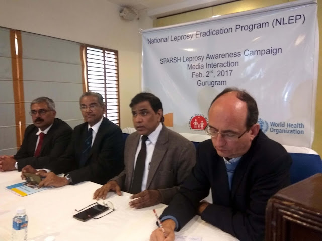 (L to R) MR. JOHN KURIAN GEORGE (ILEP in India), PADMASHREE  DR.P. K. GOPAL (Representative- APAL), Dr. Anil Kumar (Dep. Director General (2)