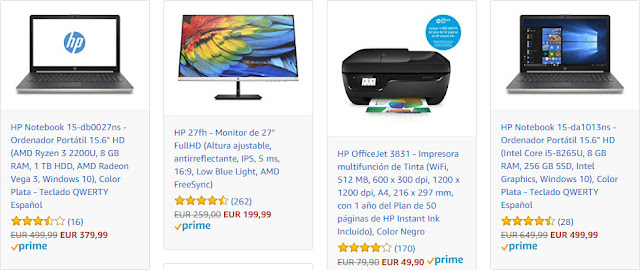 Top 5 ofertas HP Days de Amazon
