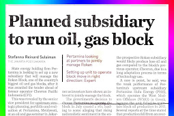Planned subsidiary to run oil, gas block