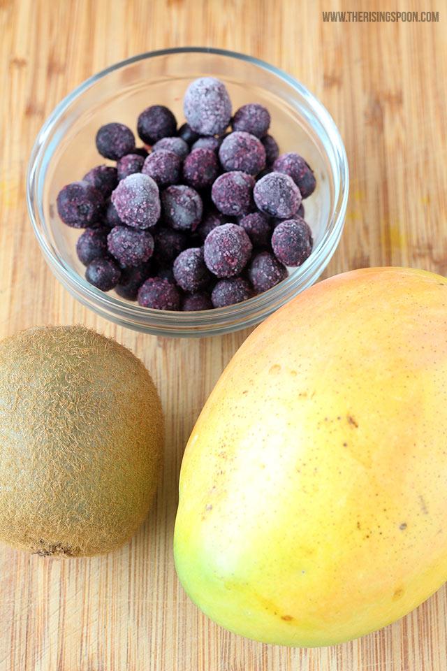 Tropical Fruit Smoothie Recipe Ingredients