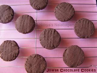 Jowar Chocolate Cookies | Sorghum Chocolate Biscuits