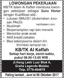 Lowongan Kerja KB/TK Al kaffah