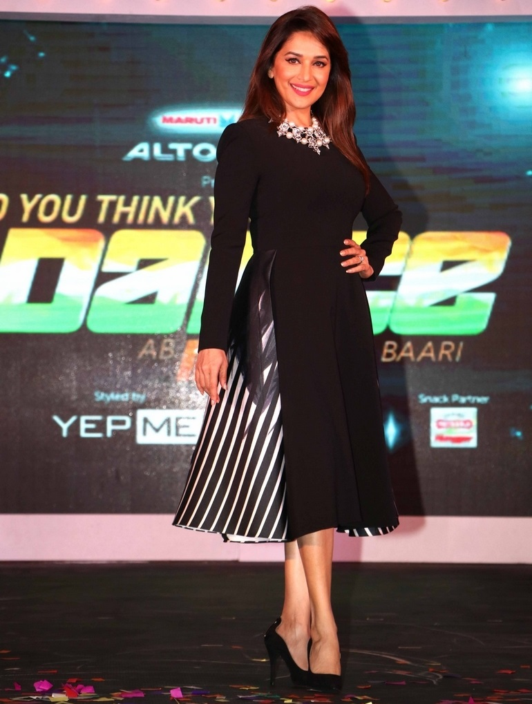 Bollywood Actress Madhuri Dixit Photos In Black Skirt