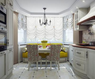 stunning kitchen design with bay window